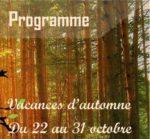 Programme Vacances de la Toussaint