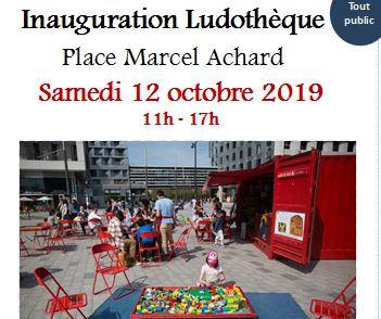 Inauguration de la ludothèque Place Marcel Achard