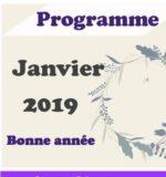 Programme de janvier