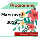 PROGRAMME MARS/AVRIL