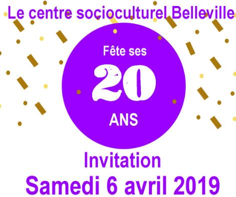 Fête des 20ans du centre socioculturel Belleville