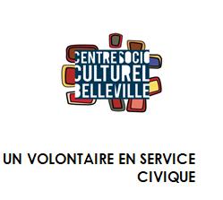 LE CENTRE SOCIOCULTUREL DE BELLEVILLE RECRUTE UN VOLONTAIRE EN SERVICE CIVIQUE