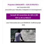 "Projection JOKKALANTE  ""sur les routes"""