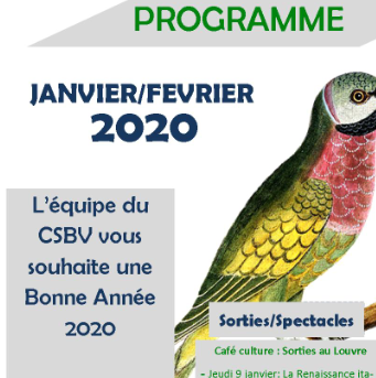 Programme Janvier/Février