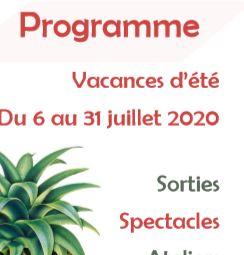 Programme des vacances de juillet